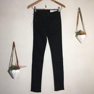 NWT rag & bone black high rise skinny jeans